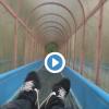 [動画]めっちゃ怖いと話題の滑り台を滑ってみた結果wwwwww